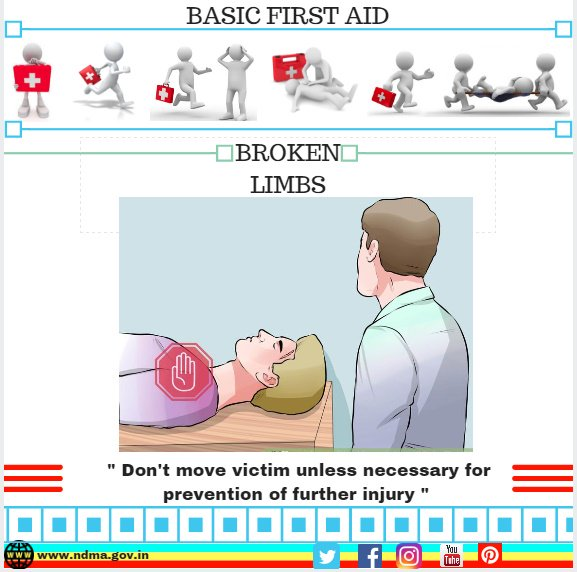 Don't move victim unless necessary for prevention of further injury