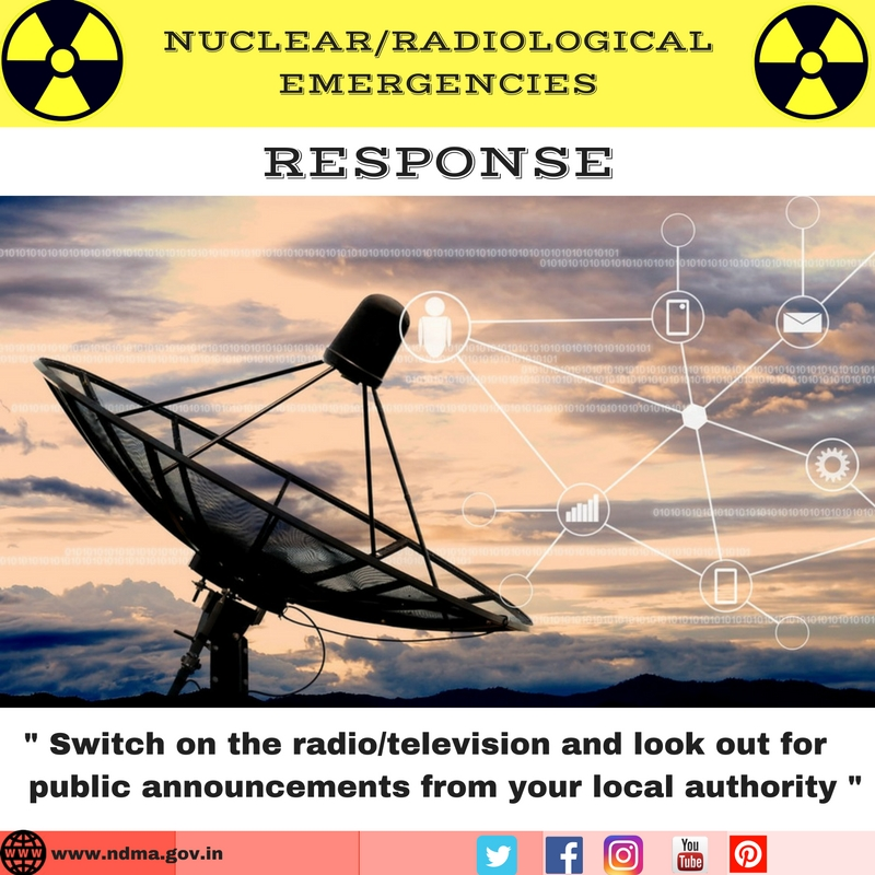 Switch on the radio/television for public announcements