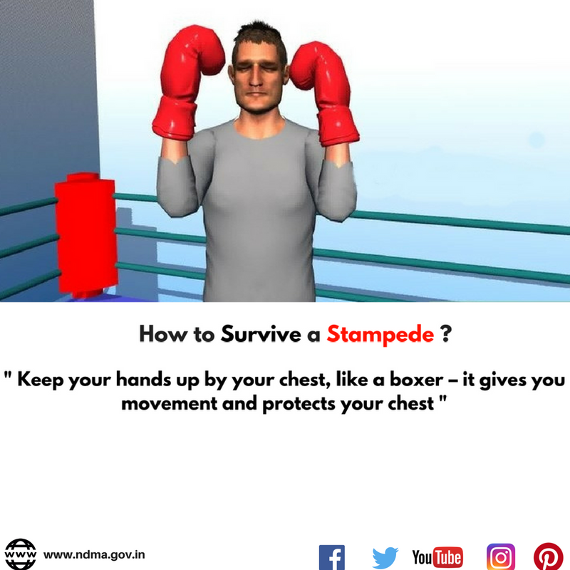 Keep your hands up by your chest, like a boxer – it gives you movement and protects your chest