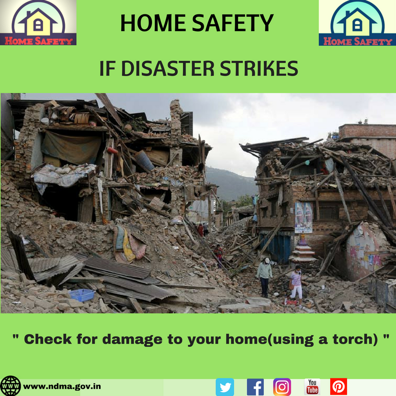 Check for damage to your home (using a torch)