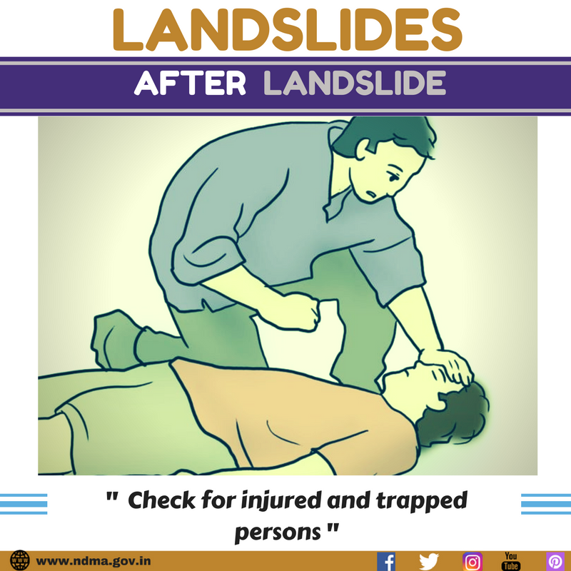 Check for injured and trapped persons