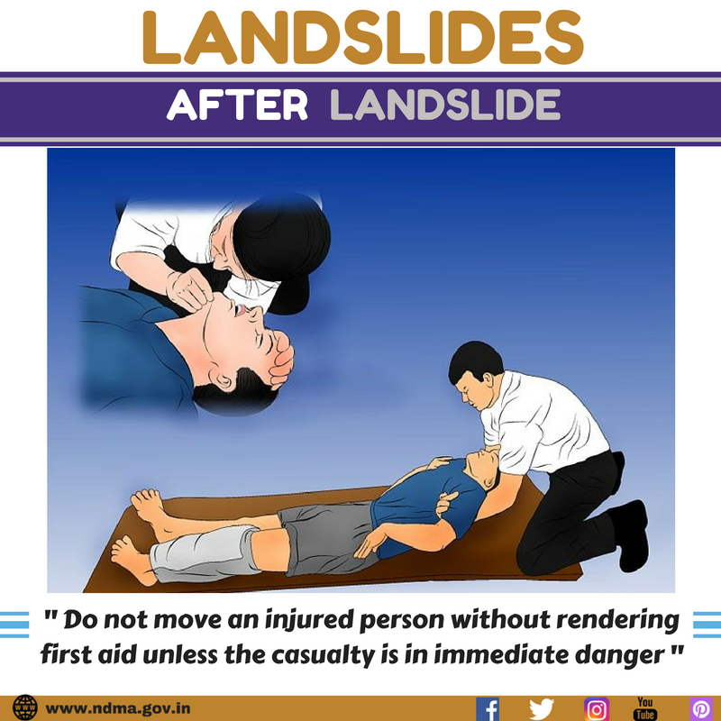 Don't move an injured person without rendering first aid unless the casualty is in immediate danger