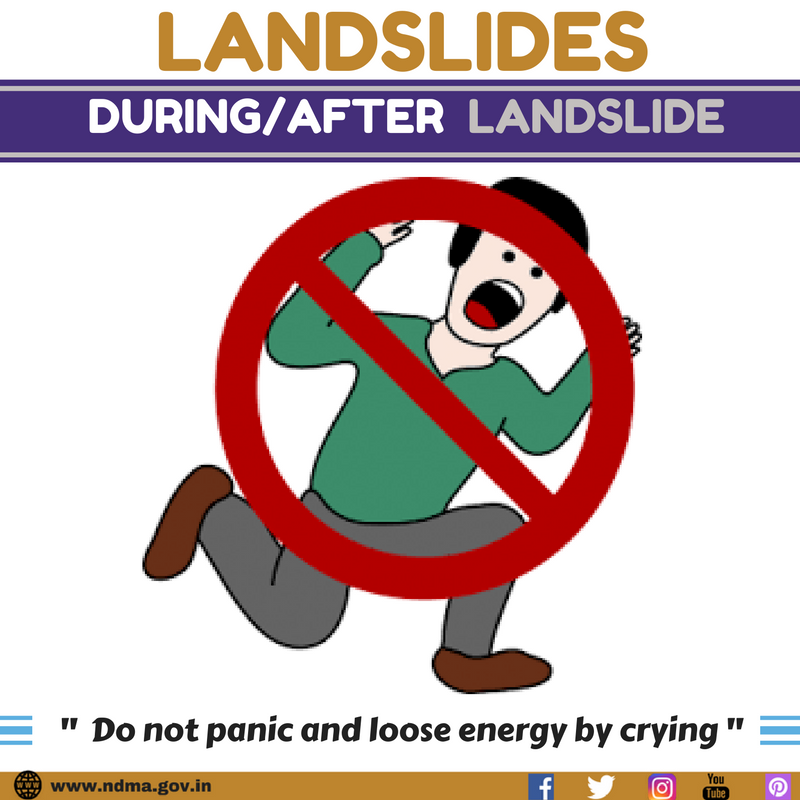 Don't panic and lose energy by crying