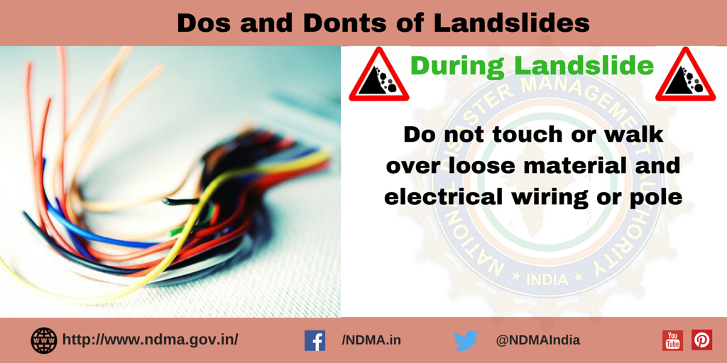 Don't touch or walk over loose material and electric wiring or pole