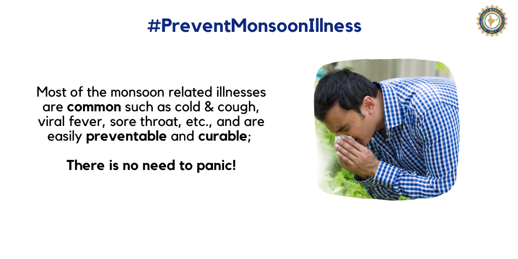 No need to panic, most monsoon-related illnesses are common, preventable and curable