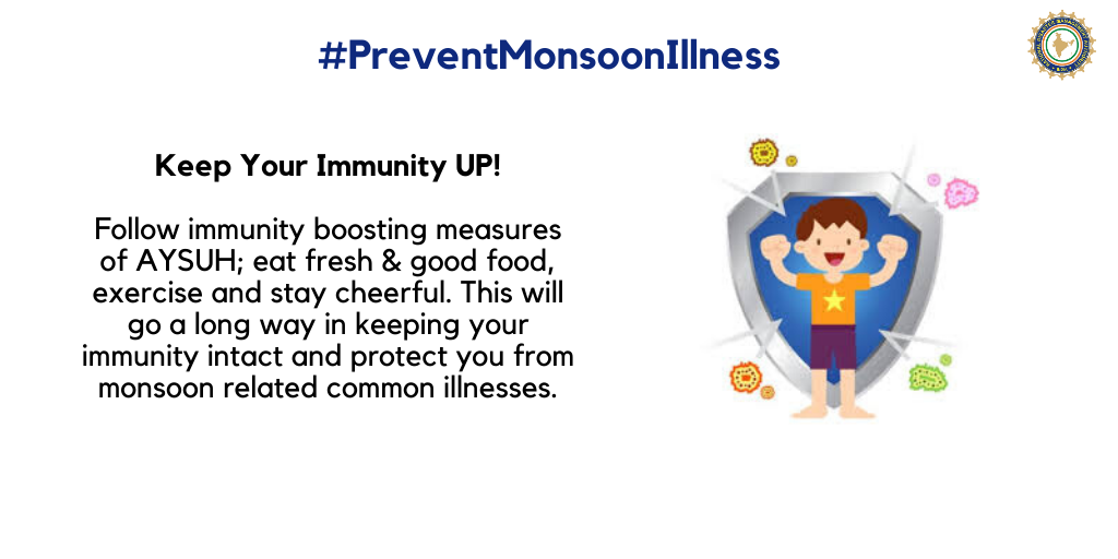 Follow immunity boosting measures to protect yourself from monsoon-related common illnesses