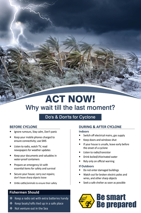 Act now! Why wait till last moment? Do's and don'ts of cyclone.