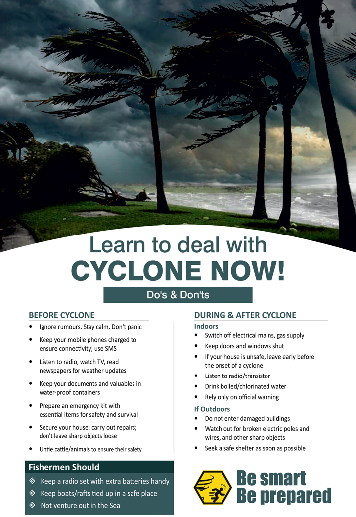 Learn to deal with cyclone now! Do's and don'ts of cyclone.