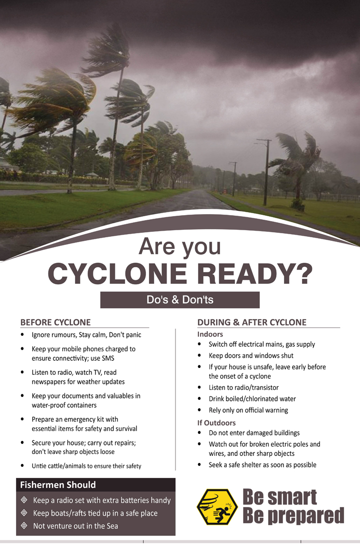 Are you cyclone ready? Do's and don'ts of cyclone.